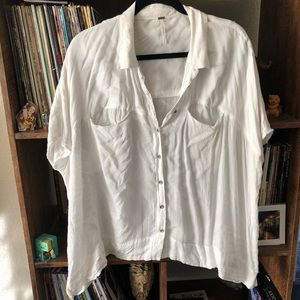 Free People Boxy Button Down
